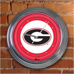 Georgia Bulldogs 15-inch Neon Clock - Thumbnail 1