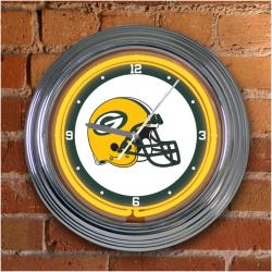 Green Bay Packers 15-inch Neon Clock - Thumbnail 1