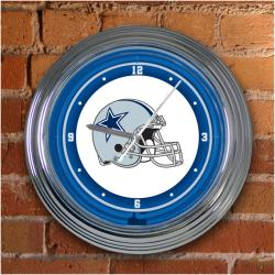 Dallas Cowboys 15-inch Neon Clock - Thumbnail 2