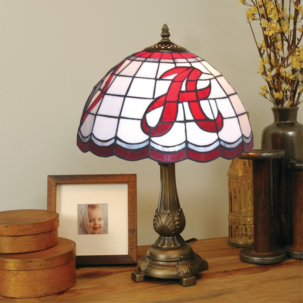 Tiffany Style Alabama Crimson Tide Lamp