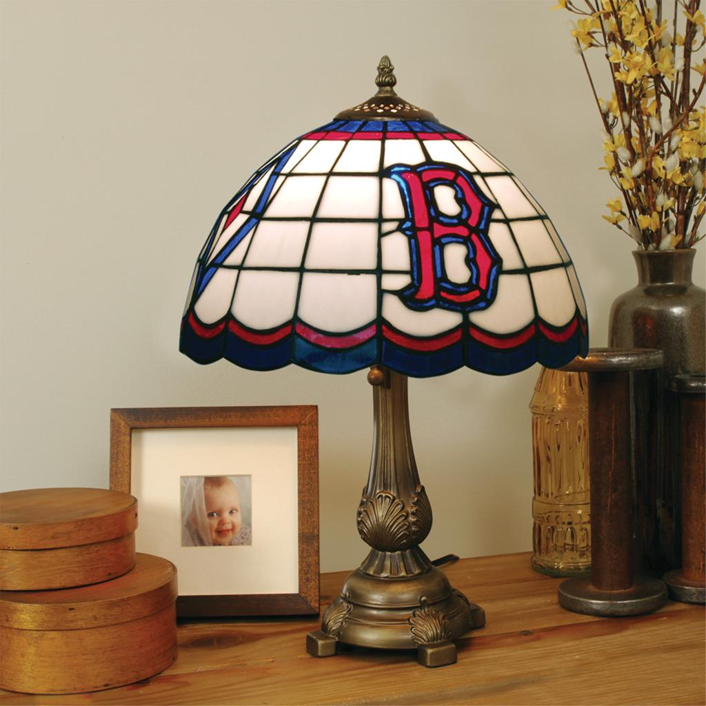tiffany-style boston red sox lamp - free shipping today