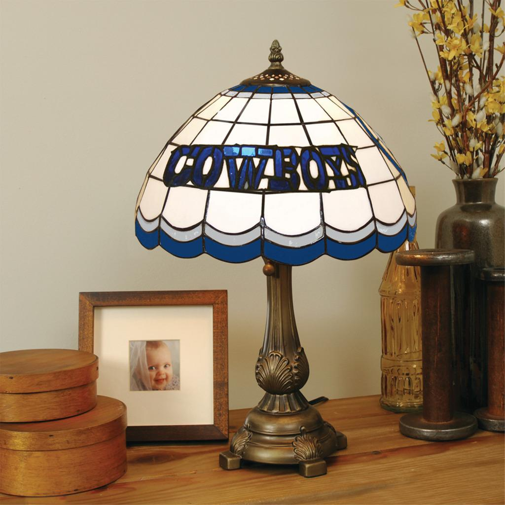 Tiffany-style Dallas Cowboys Lamp
