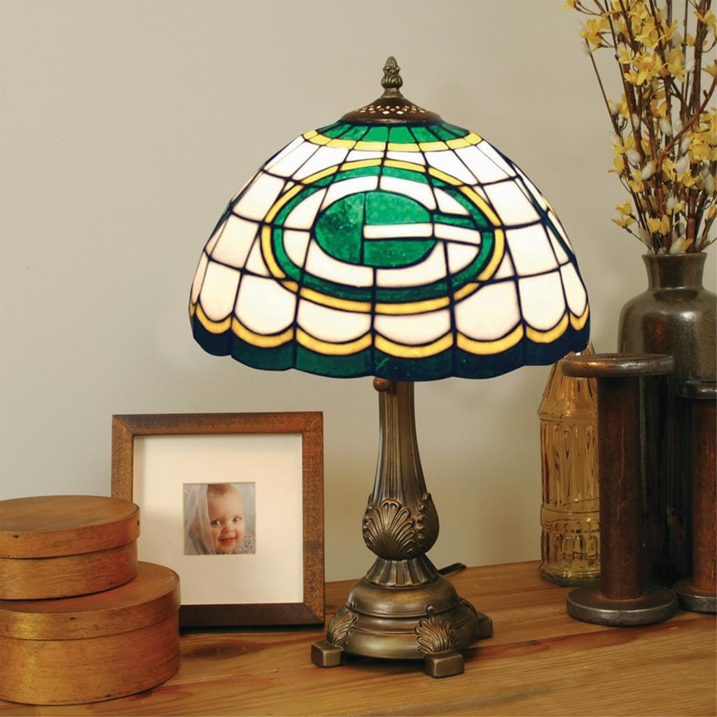 Tiffany Style Green Bay Packers Lamp Free Shipping Today