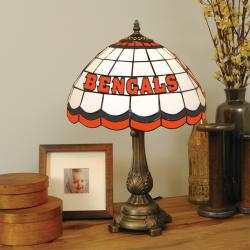 Tiffany-style Cincinnati Bengals Lamp
