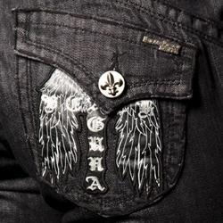 Women's 'Long Beach' Black Straight Leg Jeans - Thumbnail 2