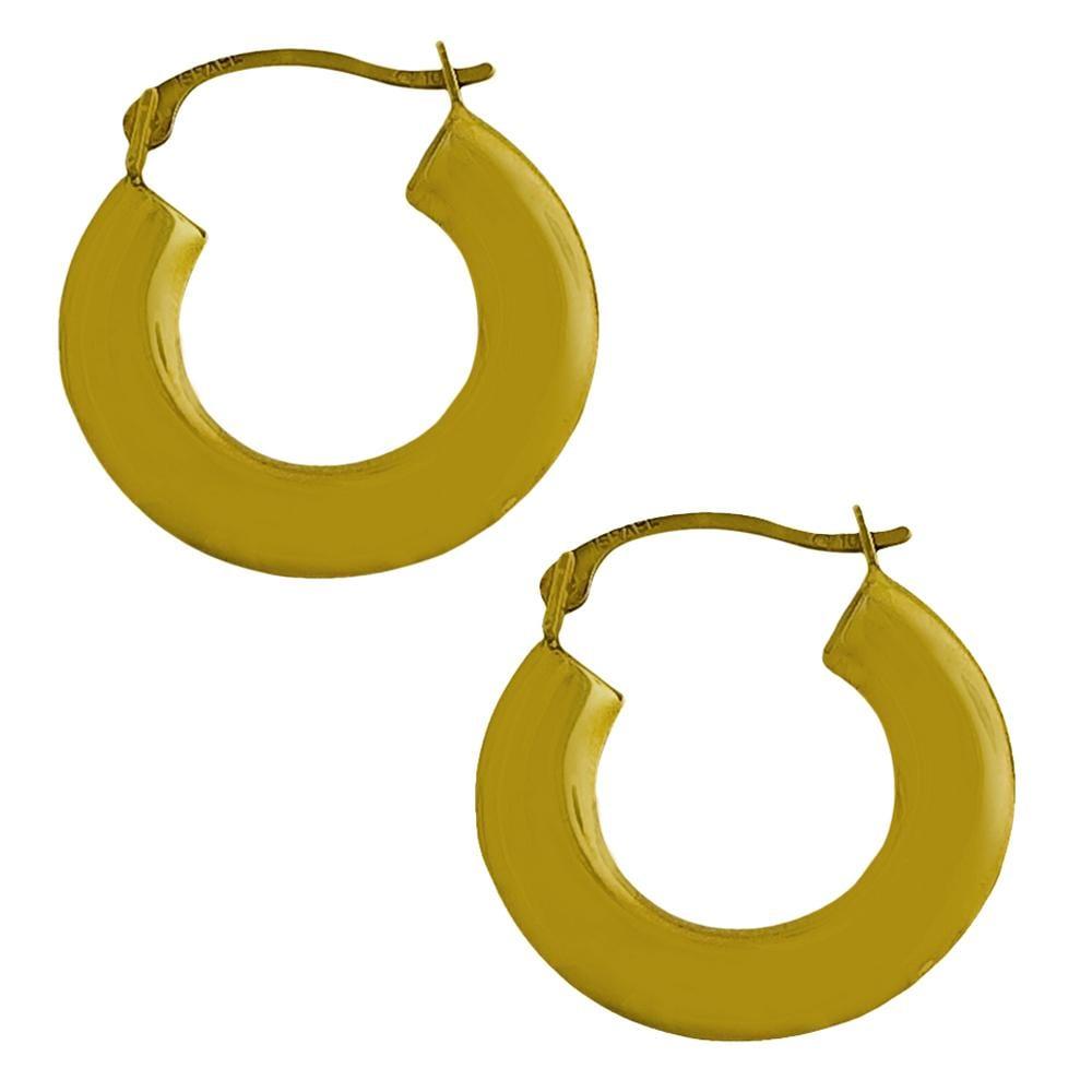 10k yellow gold polished flat 18 mm hoop earrings 13334346