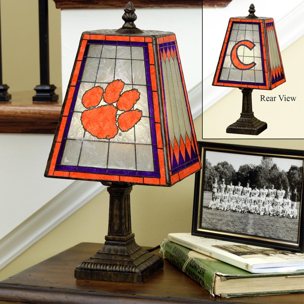 Clemson Tigers 14-inch Art Glass Lamp