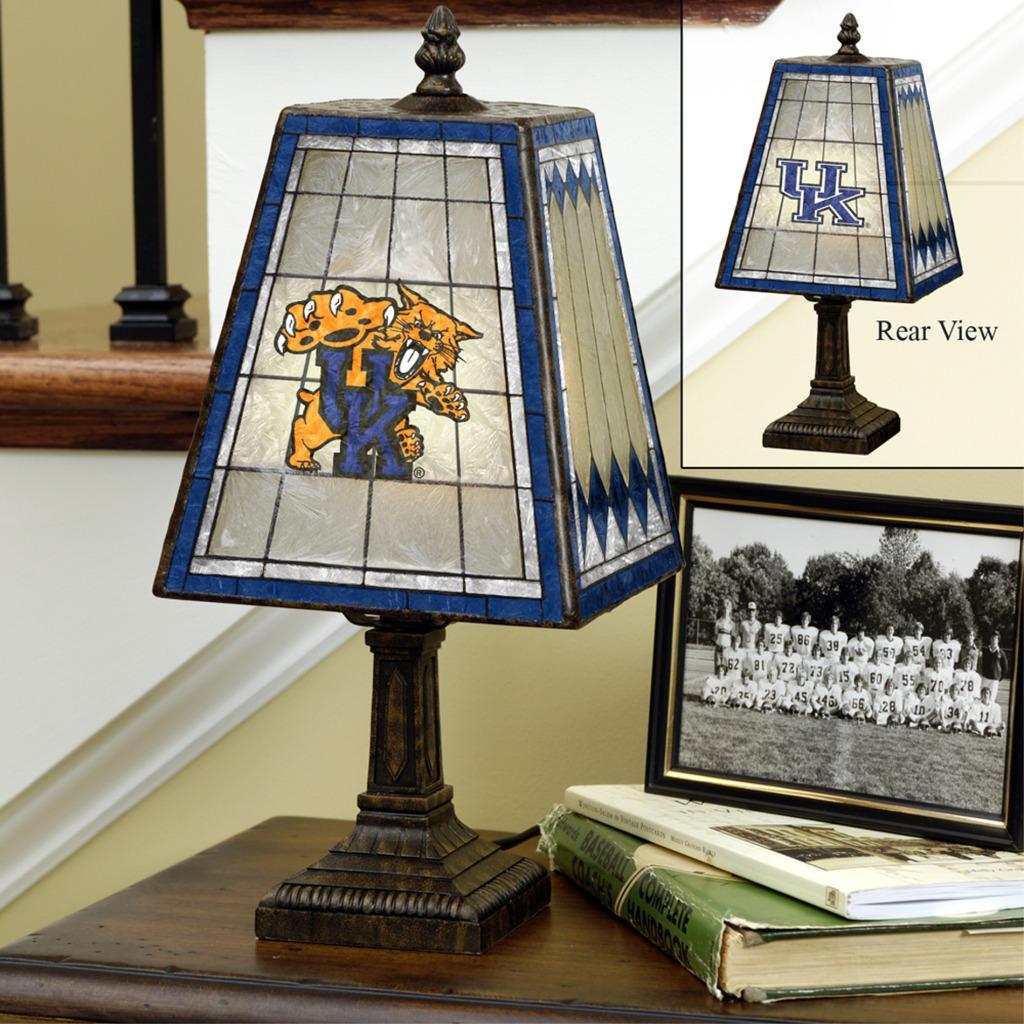 Kentucky Wildcats 14-inch Art Glass Lamp