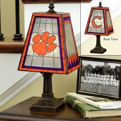Clemson Tigers 14-inch Art Glass Lamp - Thumbnail 1