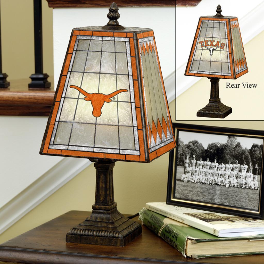 Texas Longhorns 14-inch Art Glass Lamp