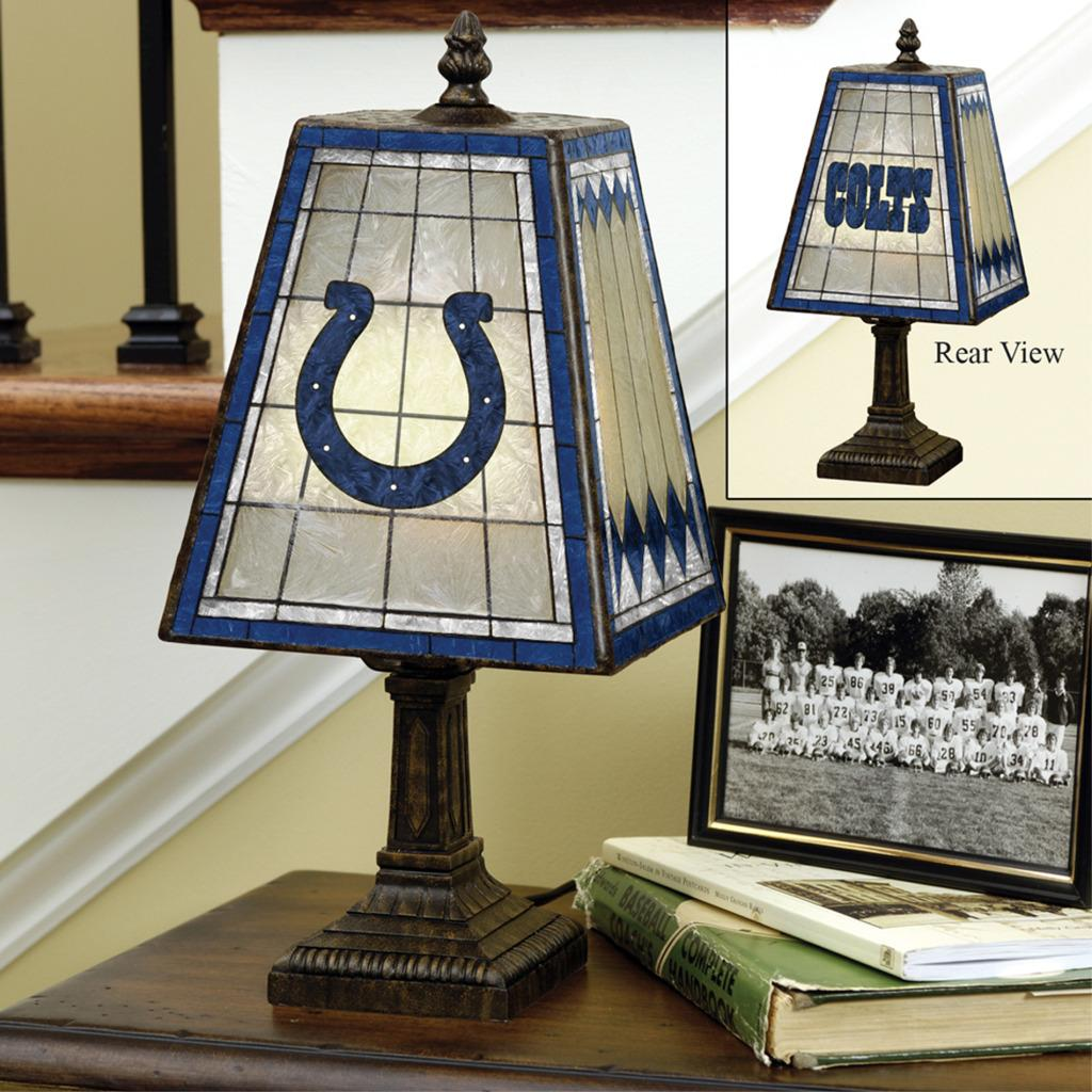Indianapolis Colts 14-inch Art Glass Lamp