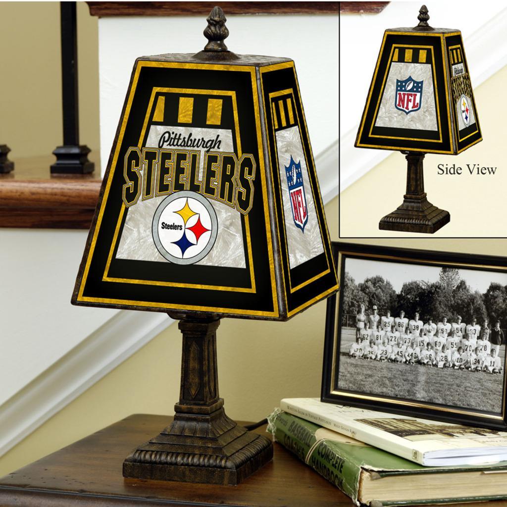 Pittsburgh Steelers 14-inch Art Glass Lamp