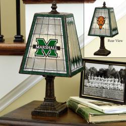 Marshall Thundering Herd 14-inch Art Glass Lamp