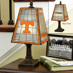 Tennessee Volunteers 14-inch Art Glass Lamp - Thumbnail 1