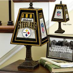 Pittsburgh Steelers 14-inch Art Glass Lamp - Thumbnail 1
