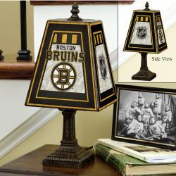 Boston Bruins 14-inch Art Glass Lamp - Thumbnail 1