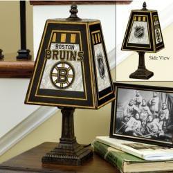 Boston Bruins 14-inch Art Glass Lamp - Thumbnail 2