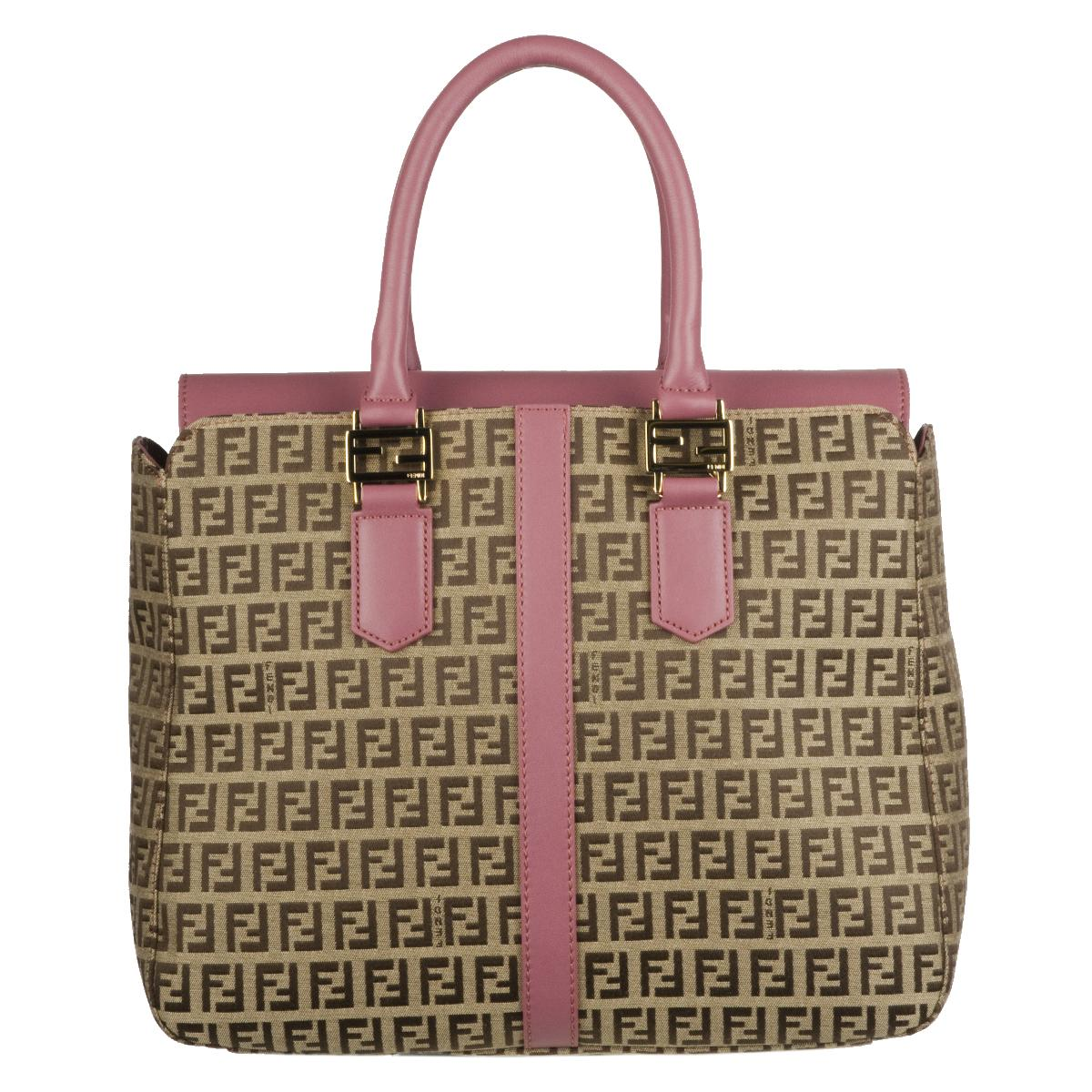 ca00bf358d33 Shop Fendi Brown Zucchino Tote Bag - Free Shipping Today - Overstock.com -  5565648
