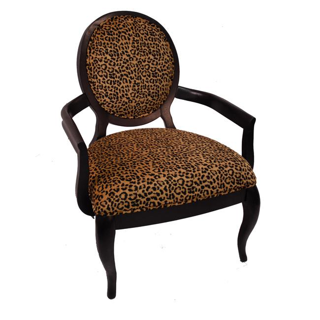 Elliot Leopard Print Black Arm Chair Free Shipping Today
