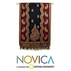 Jamawar Wool 'Paisley Modern' Shawl (India) - Thumbnail 1