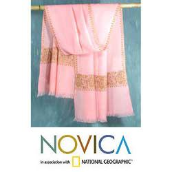 Wool 'Lavish Pink' Shawl (India)