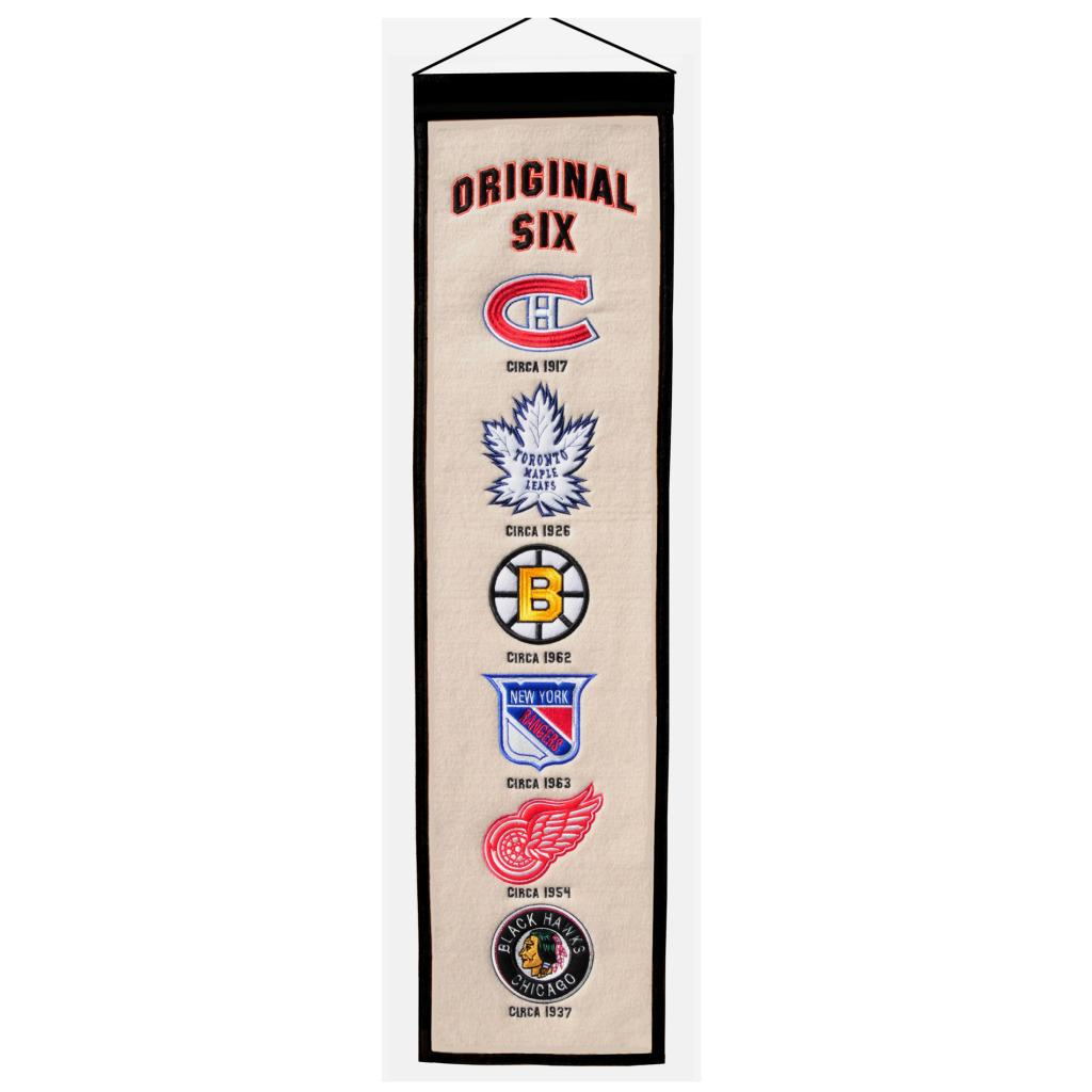 Original Six Wool Heritage Banner