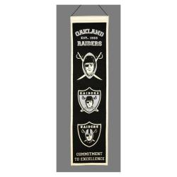 Oakland Raiders Wool Heritage Banner