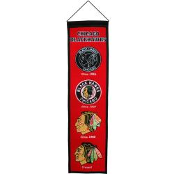 Chicago Blackhawks Wool Heritage Banner