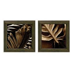 Steven Mitchell 'Tropicana Holiday Leaf' Framed 2-piece Art Set