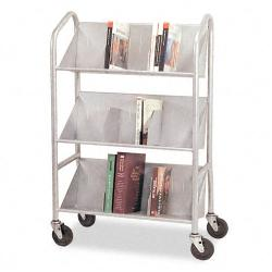 Buddy Products Sloped Book Cart