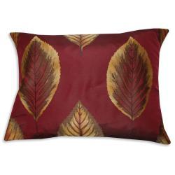 Shop Foliage Claret Fiber Accent Throw Pillow Free