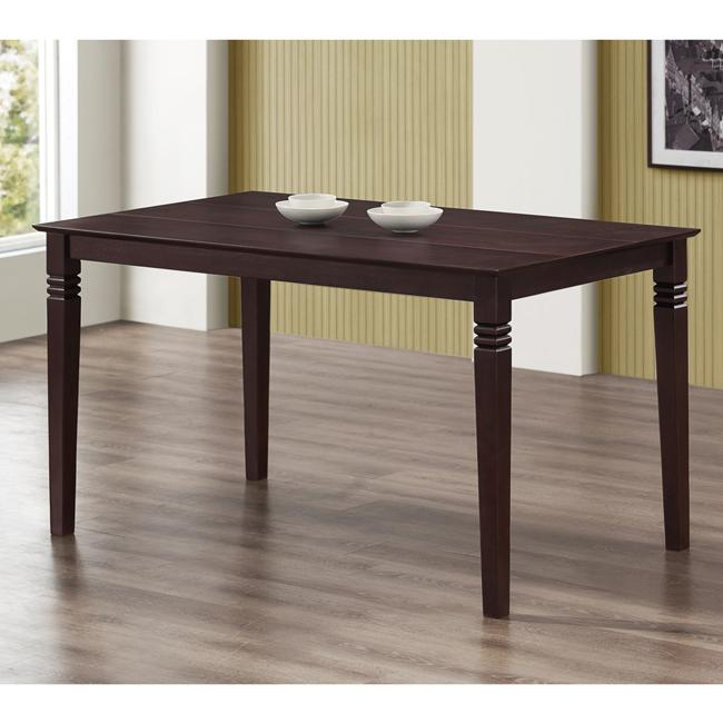 espresso 60-inch wood dining table - free shipping today