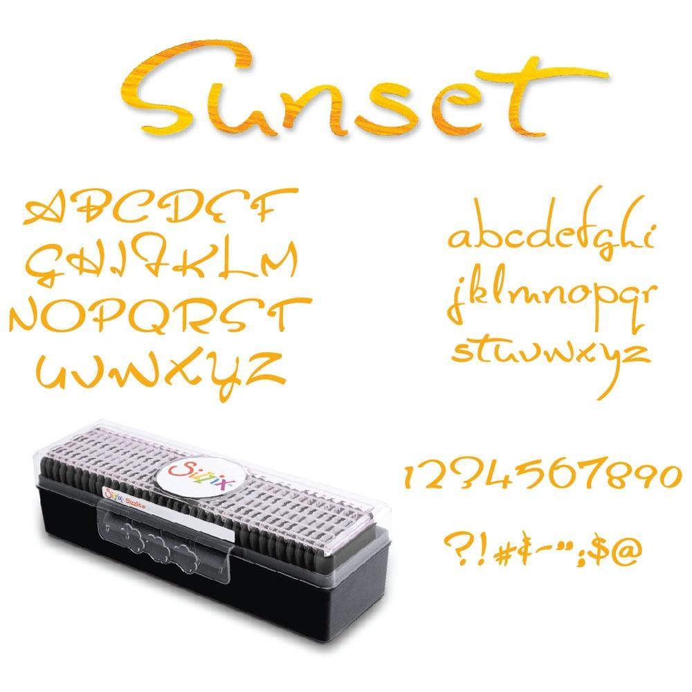 Sizzix Sizzlits Sunset Value Alphabet Set