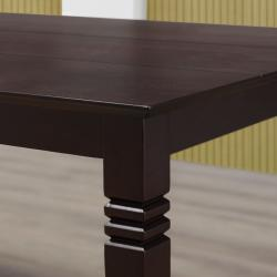 Espresso 60-inch Wood Dining Table - Thumbnail 1
