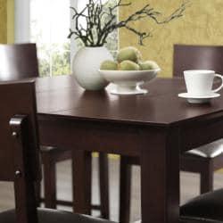 Espresso 5-piece Wood Pub Table Set