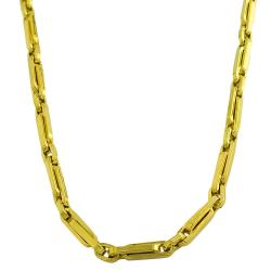 14k Yellow Gold Polished Fancy Clip Link Necklace - Thumbnail 0