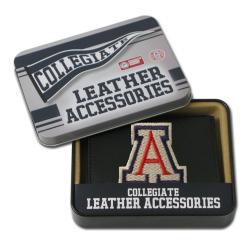 Arizona Wildcats Men's Black Leather Tri-fold Wallet