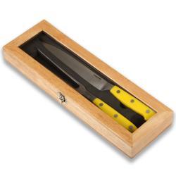 Laguiole Select Yellow Handle 2-piece Carving Set
