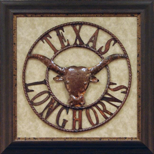 Shop Antonio Iron Texas Longhorns Framed Metal Wall Art
