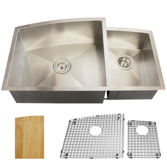 Shop Ticor Royal Stainless Steel 16-gauge 34x20.5 Undermount Kitchen ...