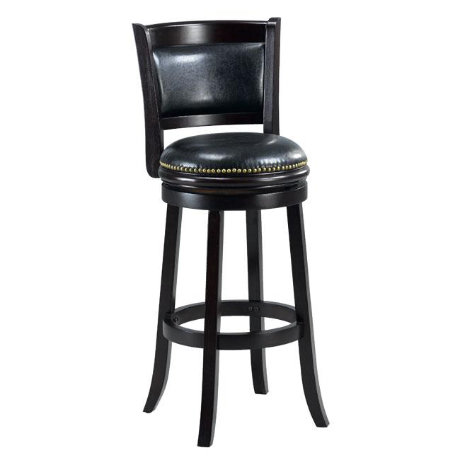 Shop Alexis Cappuccino Padded Back 29 Inch Bar Stool Free Shipping