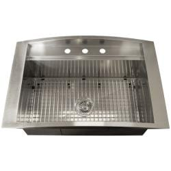33x22 Stainless Steel Sink : ... 16-gauge Stainless Steel 33-inch Single Bowl Overmount Kitchen Sink