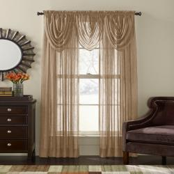 Crinkle Voile 84-inch Sheer Curtain Panel Pair - Thumbnail 1