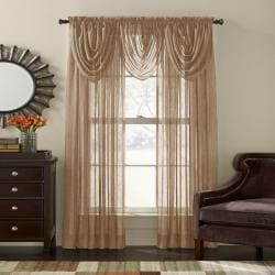 Crinkle Voile 84-inch Sheer Curtain Panel Pair - Thumbnail 2