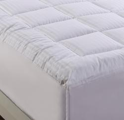 Damask Stripe Pillowtop 500 Thread Count Queen/ King/ California King-size Mattress Pad - Thumbnail 1