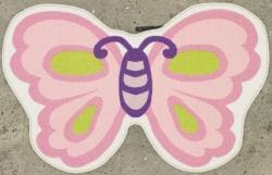 Funtime Children's Butterfly Rug (2'6 x 4') - Thumbnail 1