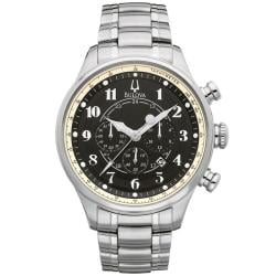 Bulova 'Adventurer' Chronograph Men's Black Dial Watch