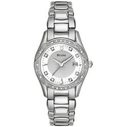 Bulova Women's Stainless Steel Diamond Accent Watch