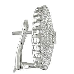 Miadora 18k White Gold 1ct TDW Diamond Earrings (G-H, SI1-SI2)