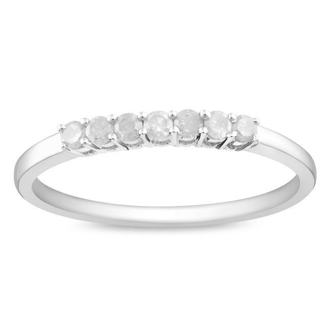 Sterling Silver 1/4ct TDW Diamond Anniversary Ring
